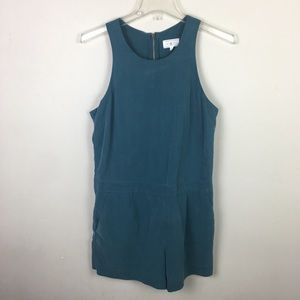 Lou & Gray green shorts romper with pockets